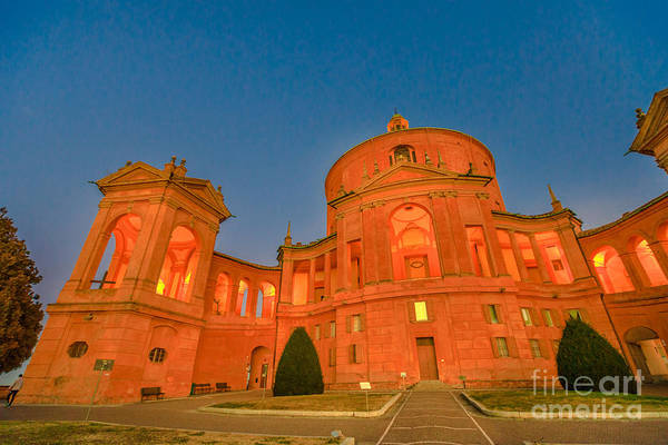 Photograph - San Luca Bologna Night by Benny Marty