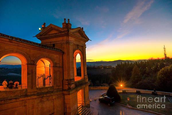 Photograph - San Luca Bologna Twilight by Benny Marty