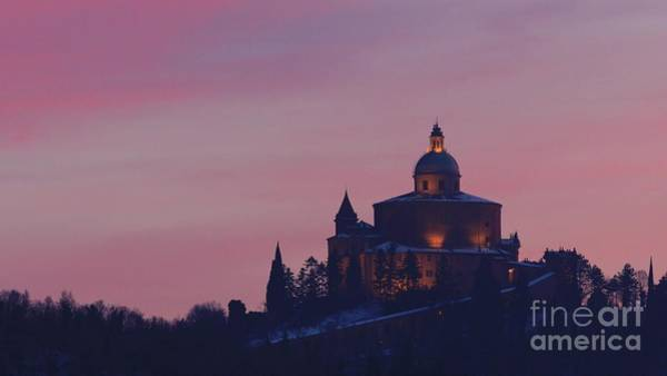 Photograph - San Luca Church In Twilight Snow by Benny Marty