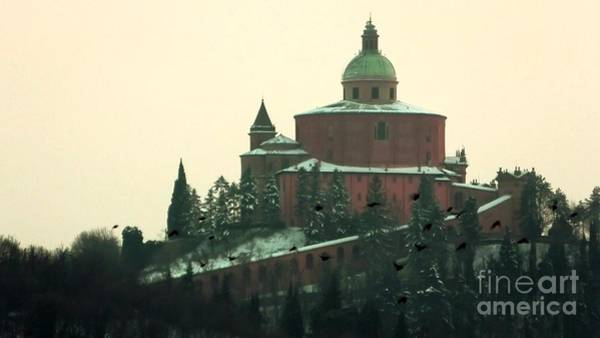 Photograph - San Luca Church With Snow by Benny Marty