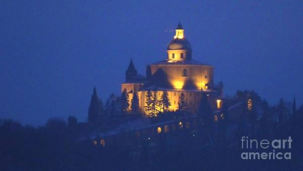 Photograph - San Luca Sanctuary By Night by Benny Marty