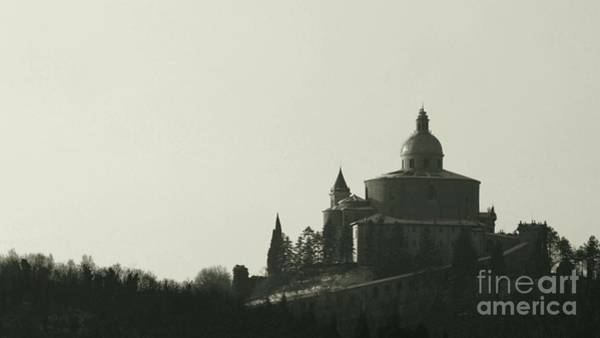 Photograph - San Luca Sanctuary Historical Bw by Benny Marty