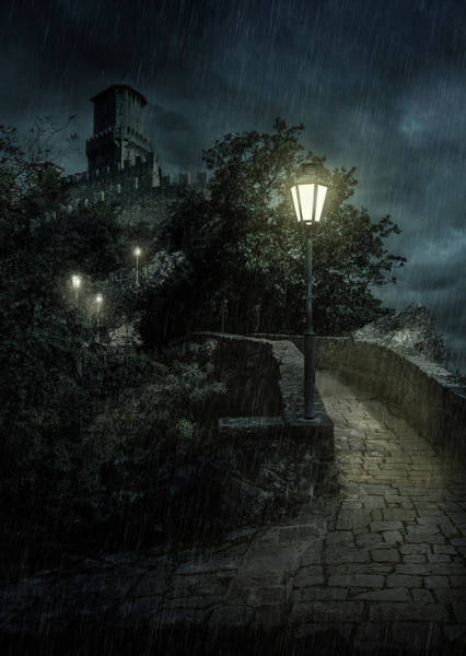 Photograph - San Marino At Night by Jaroslaw Blaminsky