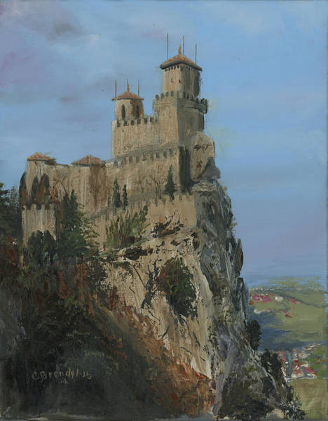 Wall Art - Painting - San Marino Castle  by Cecilia Brendel
