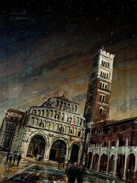 Cupola Digital Art - San Martino Sera by Andrea Gatti