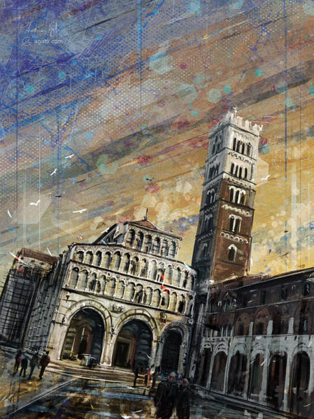 Cupola Digital Art - San Martino Tramonto by Andrea Gatti