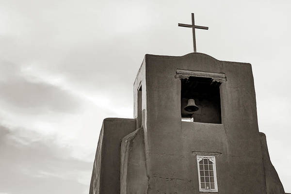 Photograph - San Miguel Mission Chapel - Santa Fe New Mexico In Classic Sepia by Gregory Ballos