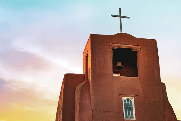Photograph - San Miguel Mission Chapel - Santa Fe New Mexico Sunrise by Gregory Ballos