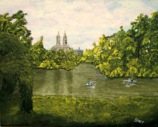 Steven Spielberg Painting - San Remo Overlooking Central Park  by Irving Starr