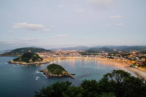 San Sebastian Photograph - San Sebastiáns Bay Of La Concha by Megan Ahrens