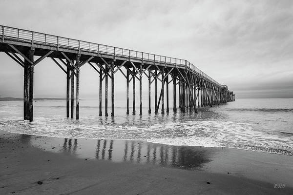 Photograph - San Simeon Pier II Bw by David Gordon