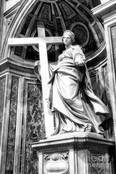 Photograph - Sancta Helena At Saint Peter's Basilica In Vatican City by John Rizzuto