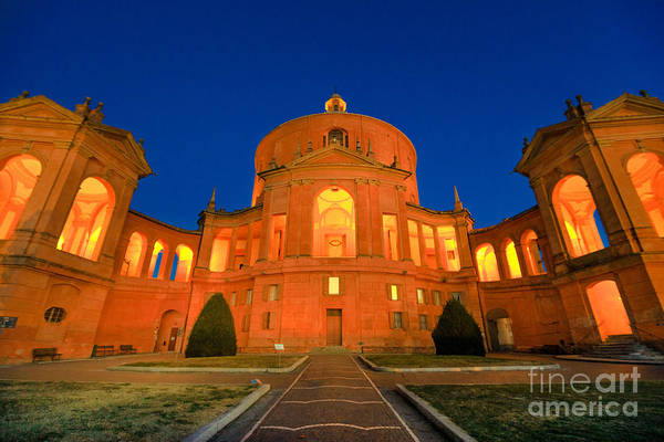 Photograph - Sanctuary San Luca Night by Benny Marty