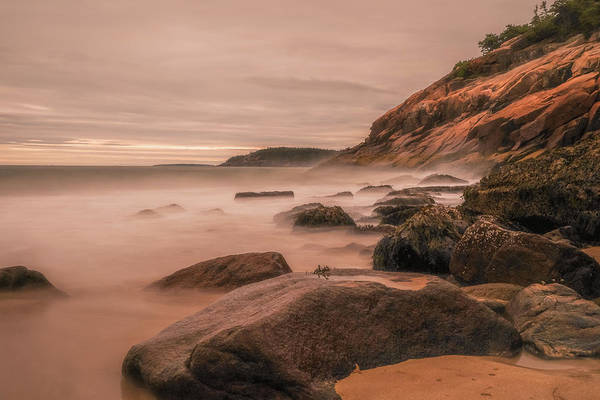 Photograph - Sand Beach Acadia Long Exposure by Dan Sproul