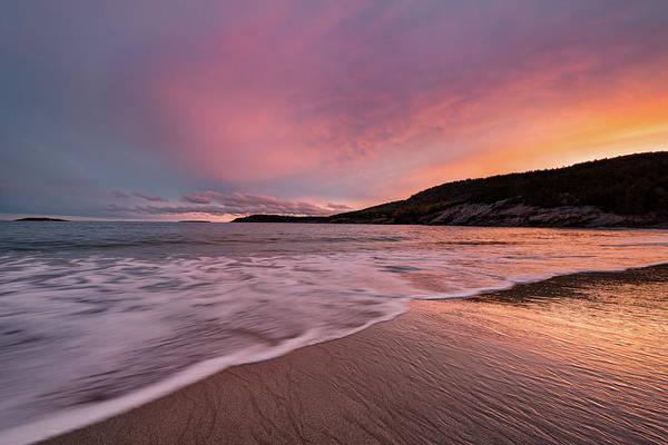 Photograph - Sand Beach Sunset by Darylann Leonard Photography