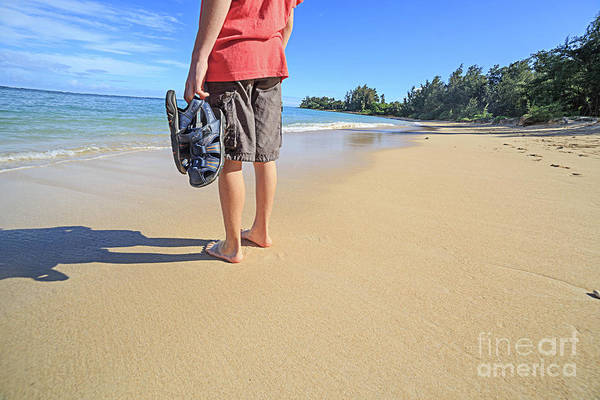 Wall Art - Photograph - Sand Between My Toes Maui Hawaii by Edward Fielding