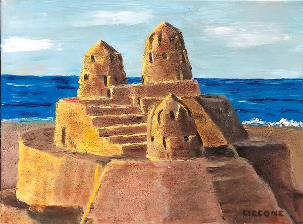 Painting - Sand Castle by Jill Ciccone Pike