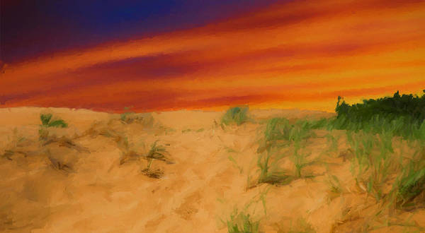 Mixed Media - Sand Dune Sunset 2 by Dan Sproul