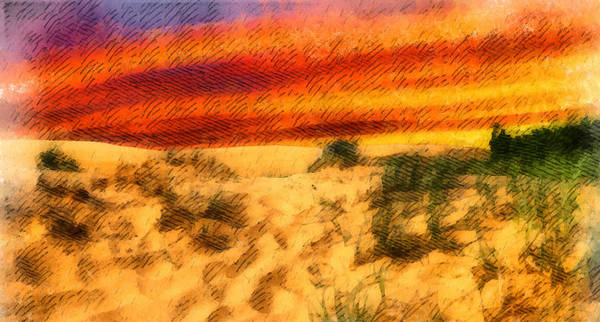 Painting - Sand Dune Sunset 3 by Dan Sproul