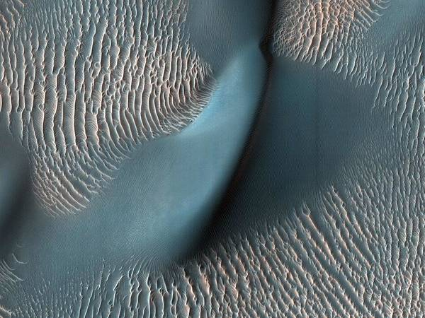 Wall Art - Painting - Sand Dunes And Ripples In Proctor Crater Mars by Celestial Images