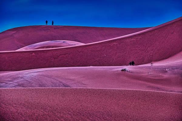 Photograph - Sand Dunes Blue Hour - Morocco by Stuart Litoff