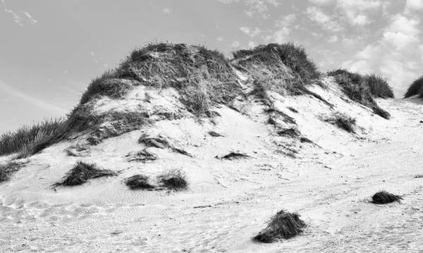 Photograph - Sand Dunes In Cornwall  Black And White by David Resnikoff