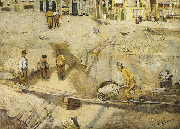 Painting - Sand Excavation In Amsterdam by Richard Roland Holst
