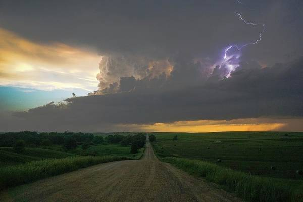 Wall Art - Photograph - Sand Hills Supercell by Ed Sweeney