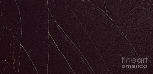 Photograph - Sand Texture Of Black Beach With Lines by Joaquin Corbalan