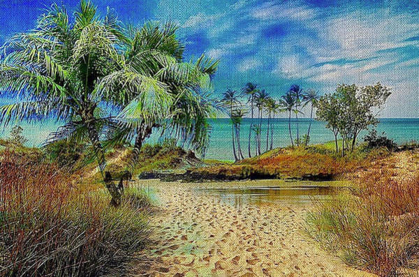 Sand To The Shore Montage Art Print