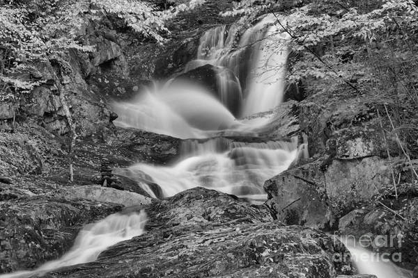 Photograph - Sanderson Brook Falls Cascades Black And White by Adam Jewell