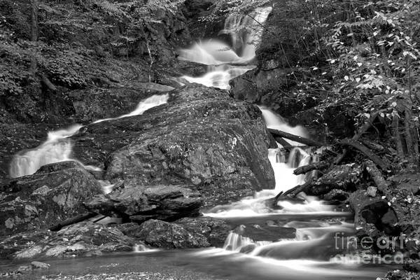Photograph - Sanderson Brook Falls Streams Black And White by Adam Jewell