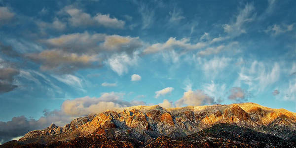 Photograph - Sandia Gold, Sandia Mountain, Albuquerque, Nm by Flying Z Photography by Zayne Diamond