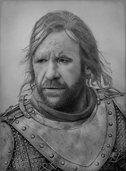 Drawing - Sandor Clegane by Vanessa Cole