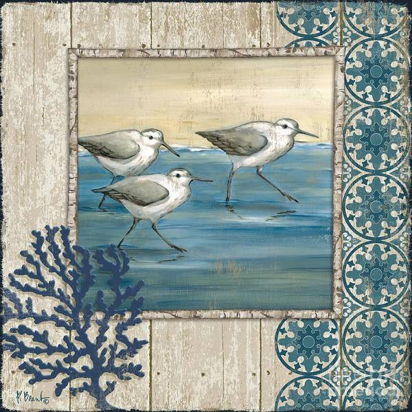 Wall Art - Painting - Sandpiper Shore I by Paul Brent