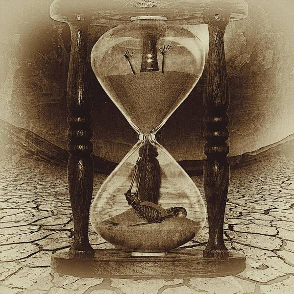 Sand Digital Art - Sands Of Time ... Memento Mori - Sepia by Marian Voicu