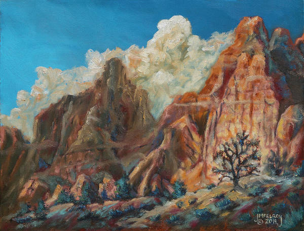 Wall Art - Painting - Sandstone And Sagebrush by Jerry McElroy