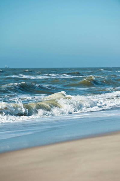 Wall Art - Photograph - Sandy Beach And Waves On The Island Of by Arnt Haug / Look-foto