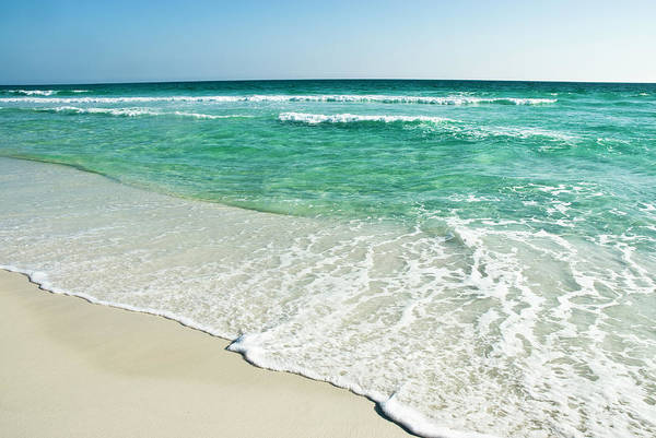 Destin Photograph - Sandy Beach With Tide Rolling In by Bentrussell