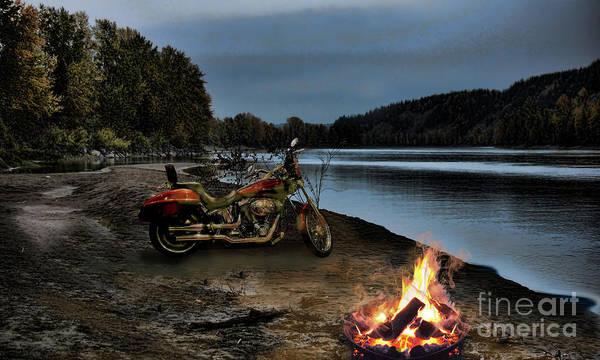 Photograph - Sandy Biker Fire by Vivian Martin