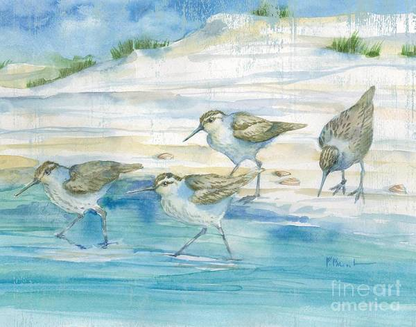 Wall Art - Painting - Sandy Sandpipers II by Paul Brent