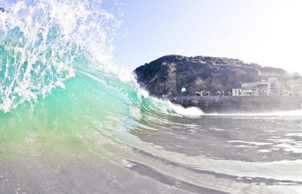 San Sebastian Photograph - Sandy Wave by Ianmcdonnell