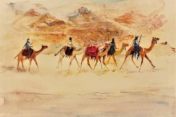 Wall Art - Painting - Sandy Way by Khalid Saeed
