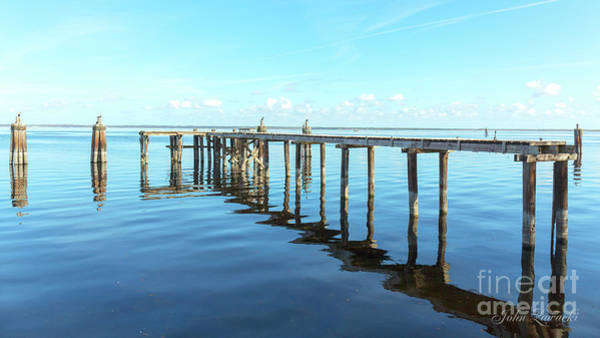 Photograph - Sanford Abandoned Dock-1628 by John Zawacki