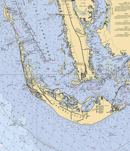 Digital Art - Sanibel And Captiva Islands Nautical Chart by Paul and Janice Russell