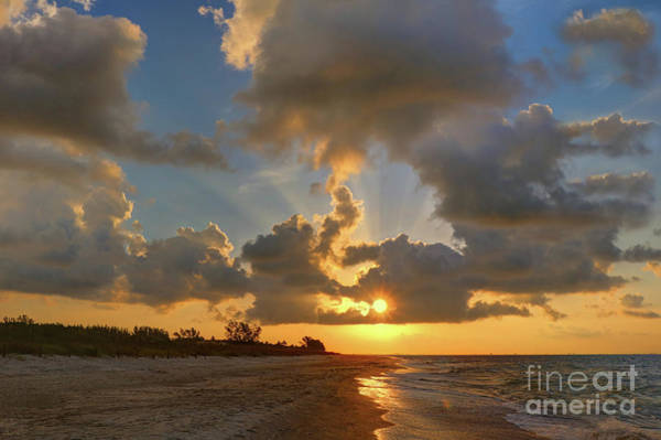 Photograph - Sanibel Island Sunrays by Jeff Breiman