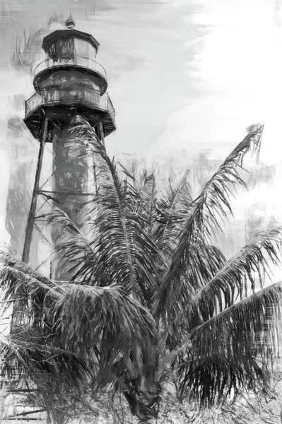 Photograph - Sanibel Lighthouse En Noir by Alice Gipson