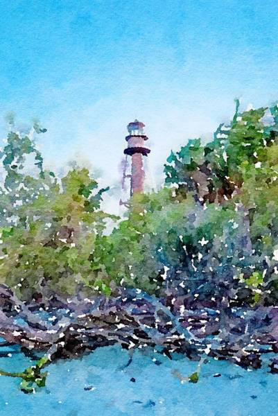 Mixed Media - Sanibel Lighthouse by Susan Rydberg