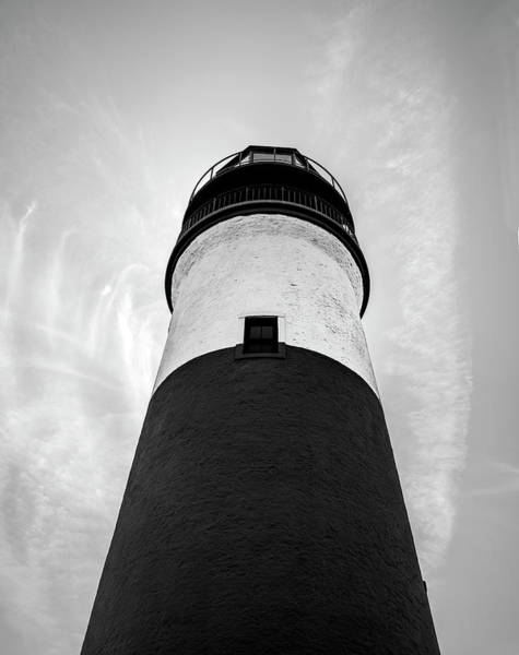 Wall Art - Photograph - Sankaty Head Light Black And White - Nantucket Island by Brendan Reals