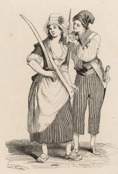 Government Digital Art - Sans-culottes by Hulton Archive